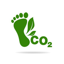 CO2 Footprint Concept Sign Ico...