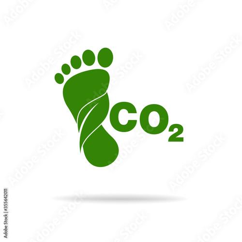Fotografía CO2 footprint concept sign icon vector illustration