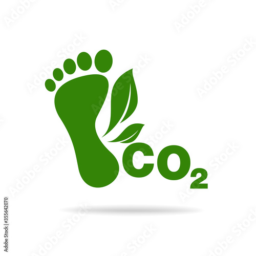 CO2 footprint concept sign icon vector illustration Poster Mural XXL