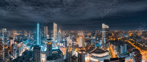 Night view of Wuxi City, Jiangsu Province, China Fototapete