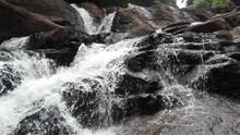 Natural Waterfall In Sri Lanka