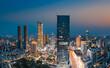 Night view of Wuxi City, Jiangsu Province, China