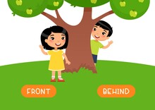 FRONT And BEHIND Antonyms Word...
