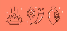 Vector Set Of Flat Icons Of Ge...