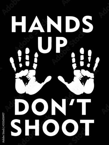 Valokuva Hands Up Dont Shoot with Palms