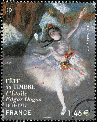 Obrazy Edgar Degas  beautiful-painting-by-edgar-degas-on-a-stamp