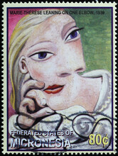 Portrait Of Marie-Therese By Pablo Picasso On Stamp