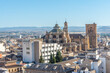 Aerial view of cathedral of Granada in Spain during summer
