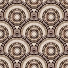 Tiled Round Mandalas Seamless Pattern. Elegant Deco Background. Greek Ornamental Repeat Backdrop. Geometric Ornament. Abstract Modern Design. Geometrical Shapes, Circles, Mandalas, Greek Key, Meander
