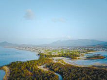 Ariel View Of Hon Do Island Or Red Island In Ninh Thuan Province, Vietnam