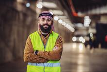Cheerful Smiling Bearded Arabi...