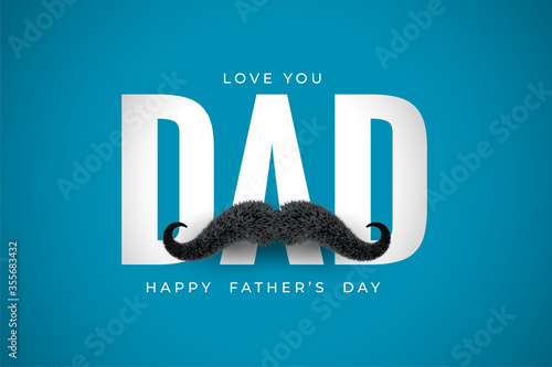 Leinwand Poster love you dad message for fathers day wishes