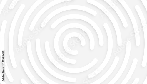 Fototapeta minimal white background with 3d circular pattern design obraz