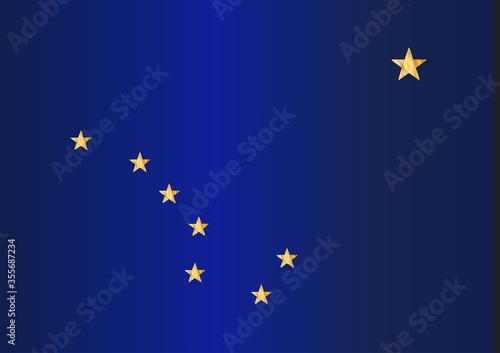 Alaskan State Flag Wallpaper Mural