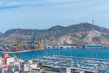 Aerial View Of Port Of Cartagena In Spain