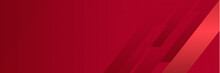 Red Wide Banner Background. Ve...