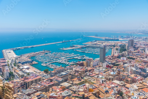 Fotografía Aerial view of Spanish city and port Alicante