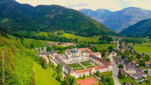 Fotografiet Ettal Abbey, called Kloster Ettal, a monastery in the village of Ettal, Bavaria,