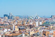 Aerial view of Valencia from belltower of the cathedral, Spain