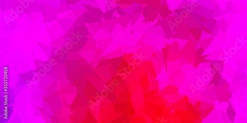 Dark purple, pink vector triangle mosaic template.