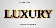 Luxury Text, Shiny Gold Style ...
