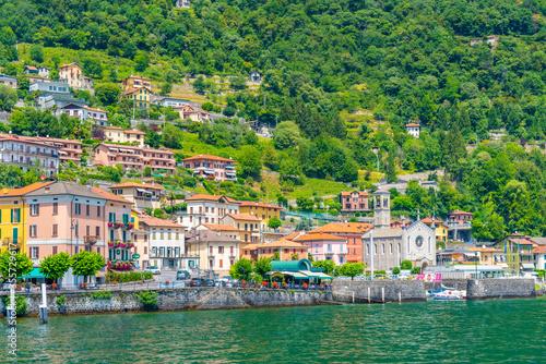 Photo Argegno village and lake Como in Italy