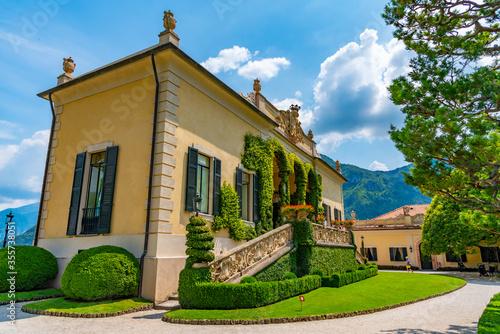 Villa del Balbianello at lake Como in Italy Fotobehang