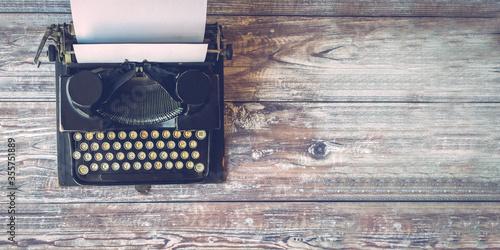 Close up of a vintage typewriter Fototapeta