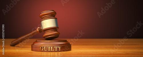 Fotografia Guilty verdict