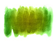 Green and yellow abstract watercolor background. It is a hand drawn. Green and yellow watercolor scribble texture.