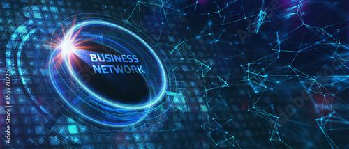 Business, Technology, Internet and network concept Wallpaper Mural