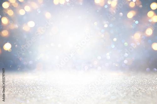 Fotografiet glitter vintage lights background