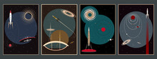 Space Poster Set, Mid Century ...
