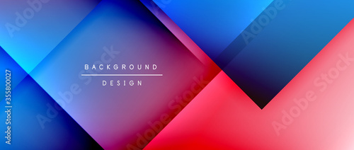 Fotografija Square shapes composition, fluid gradient geometric abstract background