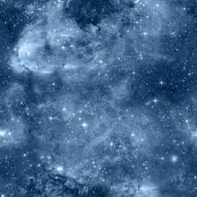 Starry Sky Seamless Pattern.  ...