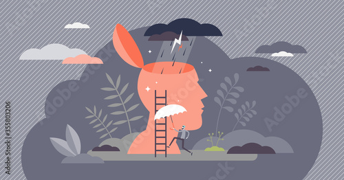 Bad mood vector illustration Fotobehang