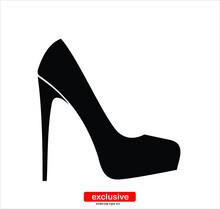 Women Shoes Icon.Flat Design S...