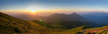Beautiful Sunset In Carpathian...