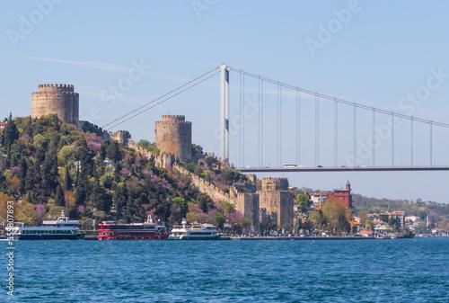 Fotografia Istanbul, Turkey - a massive fortress built on the European side of Bosporus, th