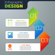 Set Matches, LSD Acid Mark And Skull On Crossbones. Business Infographic Template. Vector