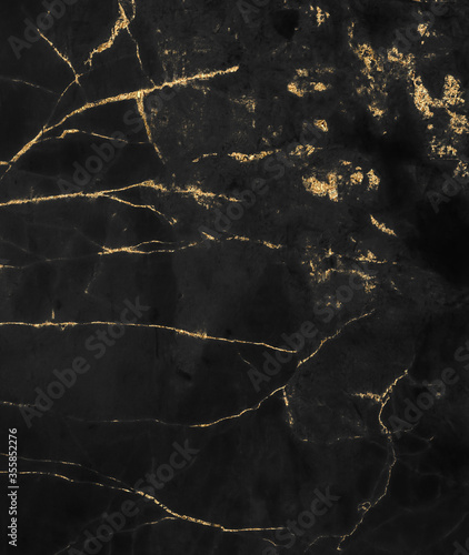 Obraz Black and gold marble texture design for cover book or brochure, poster, wallpaper background or realistic business and design artwork.	  - fototapety do salonu