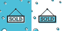 Black Sold Icon Isolated On Bl...