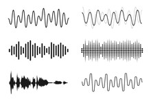 Set Of Sound Waves. Analog And...