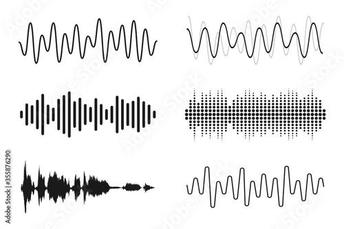Fotomural Set of sound waves