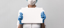 Doctor Holding A Blank Board. ...