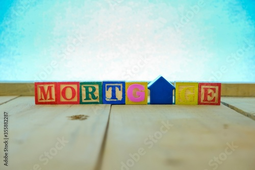 Photo Conceptual of mortgage and home loan