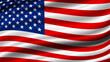 Leinwandbild Motiv USA or america flag background with copy space