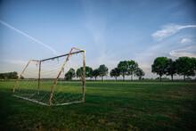 Soccer Football Goal In Rural ...