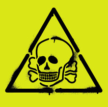 Triangle, Skull And Crossbones...