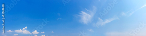 Blue sky panorama with cloud on a sunny day Canvas